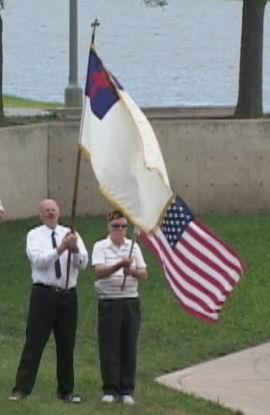 Improper flag display in Wichita, Kansas, 2001